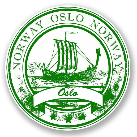2 x Oslo Norway Vinyl Sticker #5931