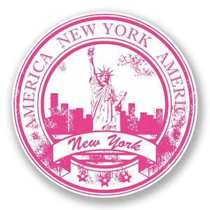 2 x New York USA Vinyl Sticker #5935