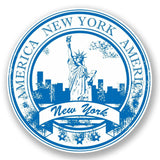 2 x New York USA Vinyl Sticker #5937