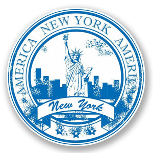 2 x New York USA Vinyl Sticker #5936