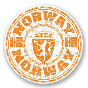 2 x Norway Vinyl Sticker #5950