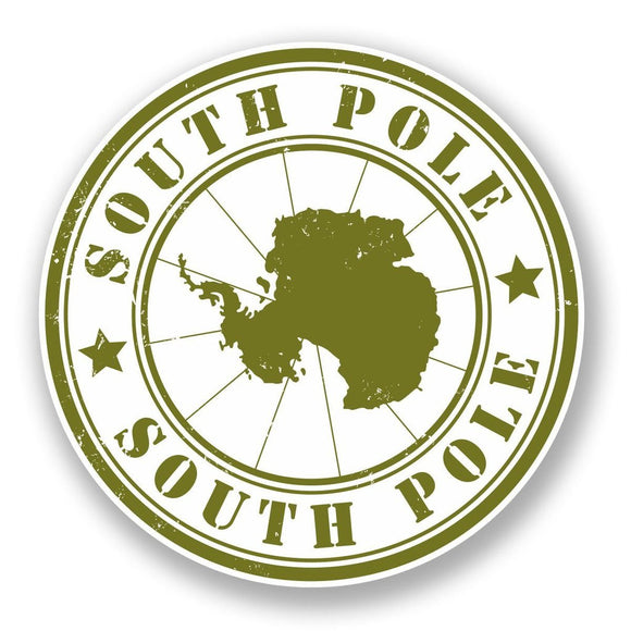 2 x Antarctica South Pole Vinyl Sticker #5963