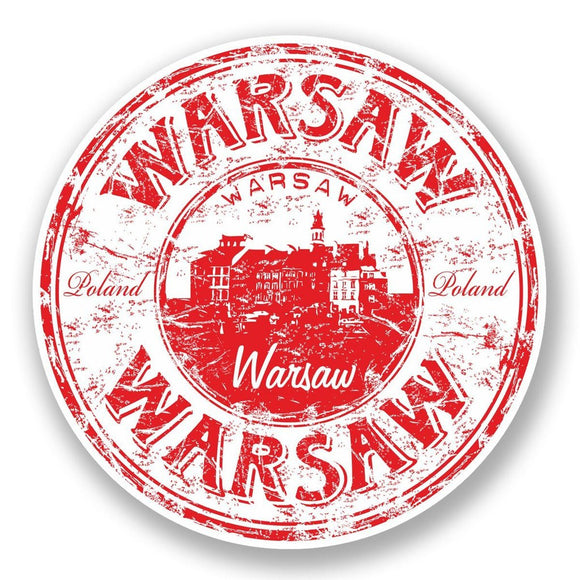 2 x Warsaw Poland Vinyl Sticker #5969