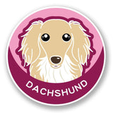 2 x Dachshund Dog Vinyl Sticker #5989