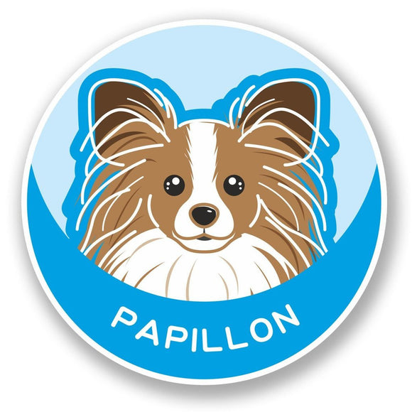 2 x Papillon Continental Toy Spaniel Dog Vinyl Sticker #5991
