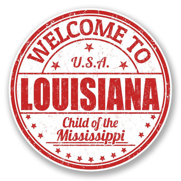 2 x Louisiana USA Vinyl Sticker #5996