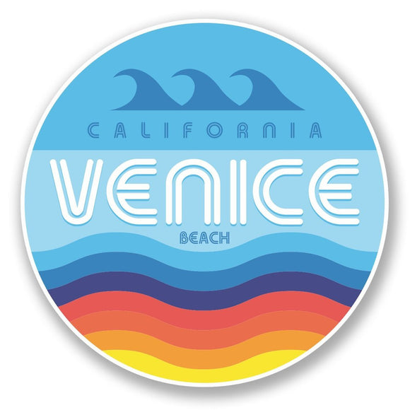 2 x Venice Beach California USA Vinyl Sticker #6008