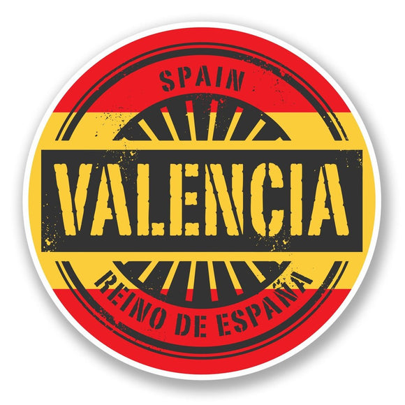 2 x Valencia Spain Vinyl Sticker #6015