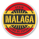 2 x Malaga Spain Vinyl Sticker #6016