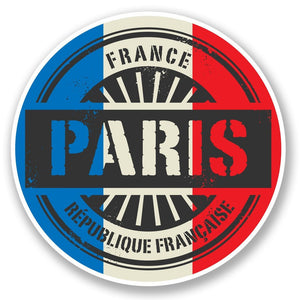 2 x Paris France Vinyl Sticker #6021