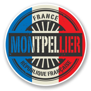 2 x Montpellier France Vinyl Sticker #6024