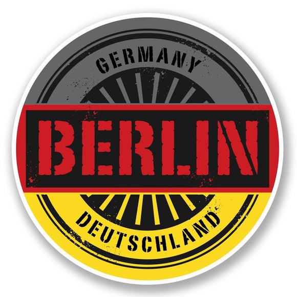 2 x Berlin Germany Deutschland Vinyl Sticker #6027