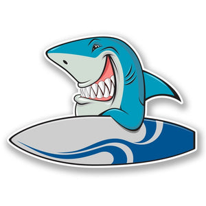 2 x Surf Shark Vinyl Sticker #6039