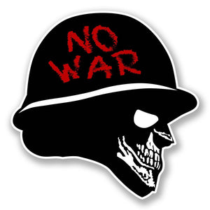 2 x No War Vinyl Sticker #6047