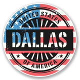 2 x Dallas USA America Vinyl Sticker #6052