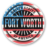 2 x Fort Worth USA America Vinyl Sticker #6056