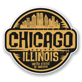2 x Chicago Illinois USA Vinyl Sticker #6058
