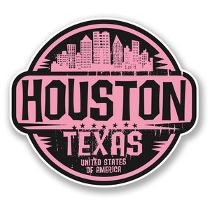 2 x Houston Texas USA America Vinyl Sticker #6059