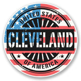 2 x Cleveland Ohio USA Vinyl Sticker #6070