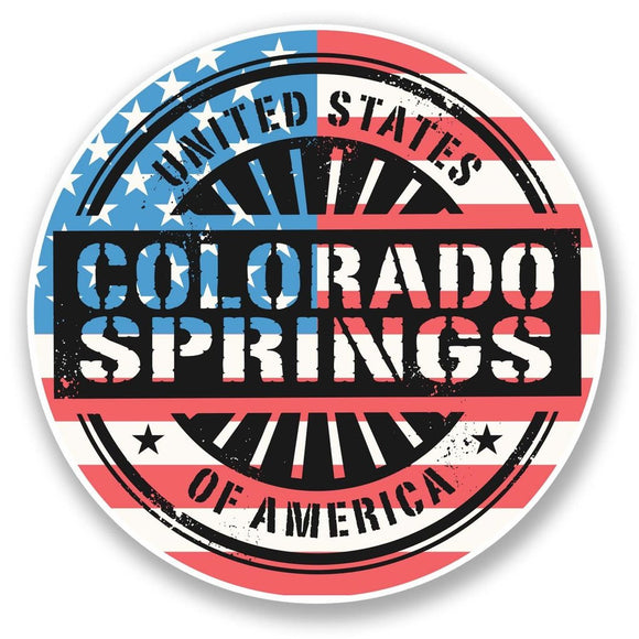 2 x Colorado Springs USA Vinyl Sticker #6071