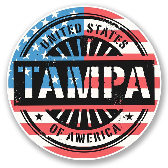 2 x Tampa Bay Florida USA Vinyl Sticker #6073
