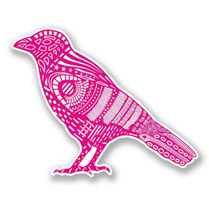 2 x Pink Bird Raven Crow Vinyl Sticker #6081