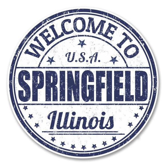 2 x Springfield Illinois USA Vinyl Sticker #6120