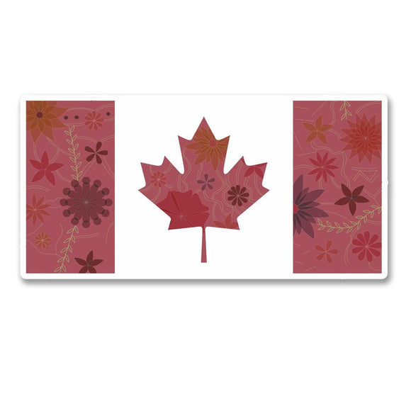 2 x Canada Canadian Flag Vinyl Sticker #6121