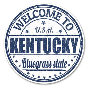 2 x Kentucky USA Vinyl Sticker #6124