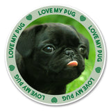 2 x Funny Black Pug Dog Vinyl Sticker #6135
