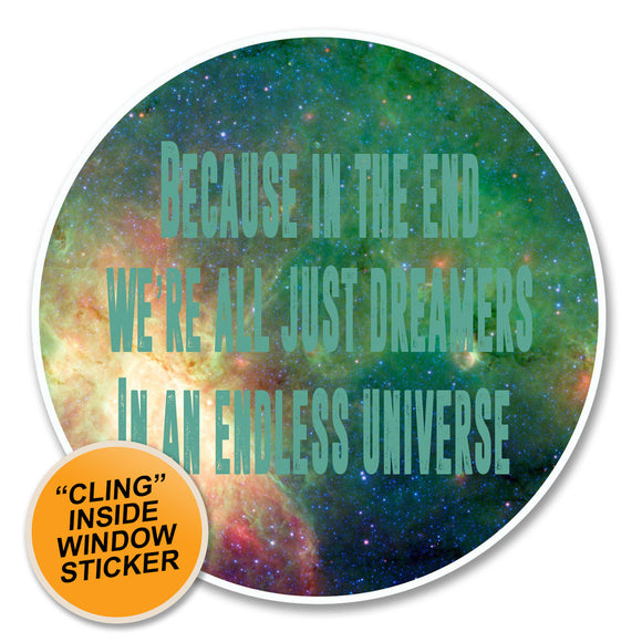 2 x Motivational Space WINDOW CLING STICKER Car Van Campervan Glass #6136