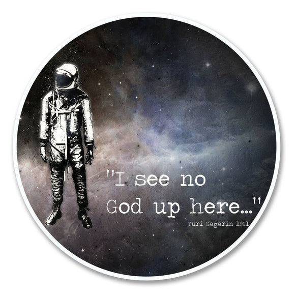 2 x No God Astronaut Vinyl Sticker #6149