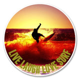 2 x Live Laugh Love Surf Vinyl Sticker #6150