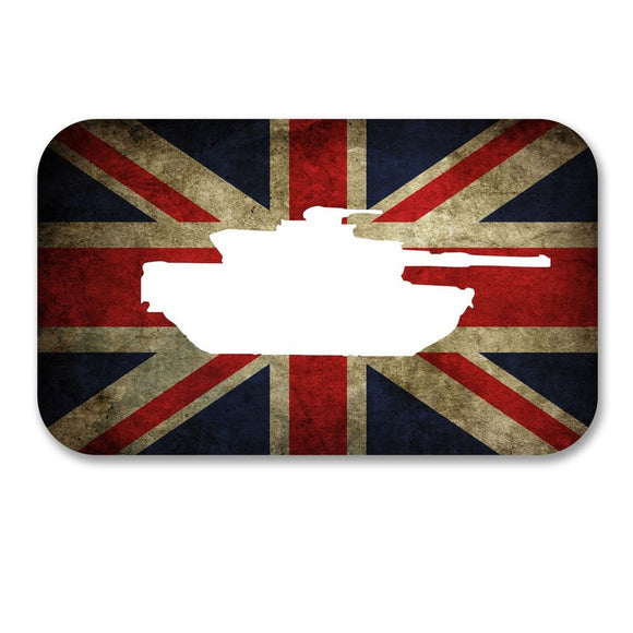 2 x Army Tank Union Jack Vinyl Sticker #6160
