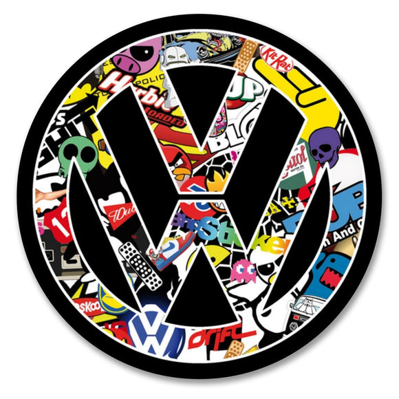 2 x VW Stickerbomb Vinyl Sticker #6170