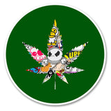 2 x Cannabis Vinyl Sticker #6174