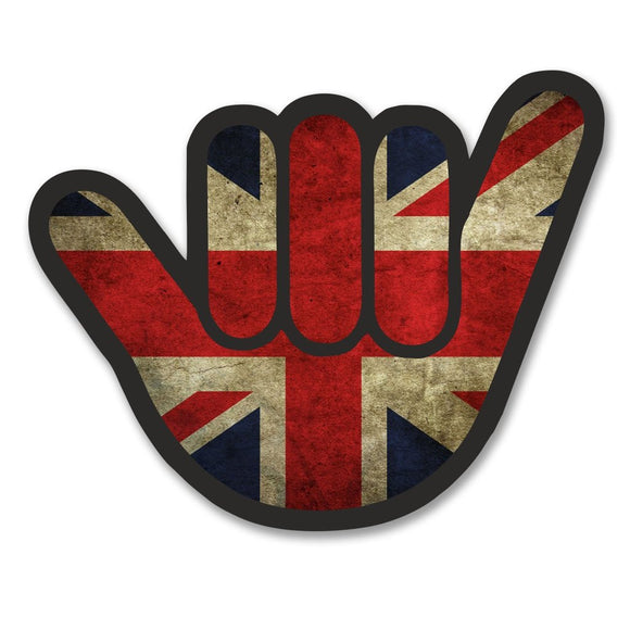 2 x Union Jack Flag Vinyl Sticker #6176