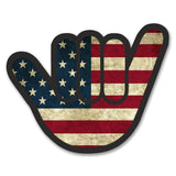 2 x American Flag Shocker Vinyl Sticker #6181