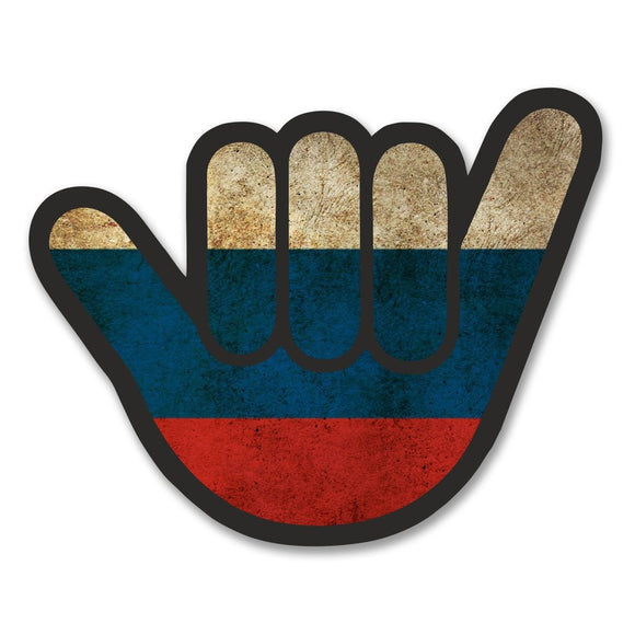 2 x Russian Flag Shocker Vinyl Sticker #6184