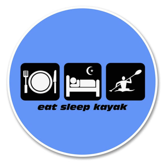 2 x Eat Sleep Kayak Vinyl Sticker #6207