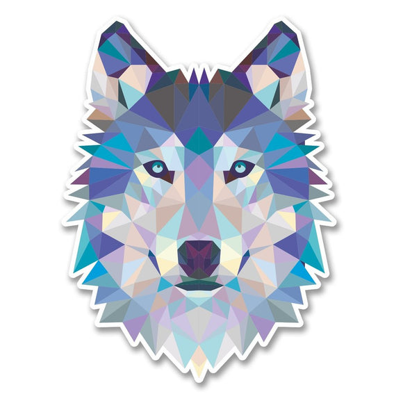 2 x Abstract Husky Wolf Vinyl Sticker #6214