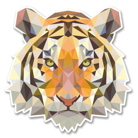 2 x Tiger Lion Cat Vinyl Sticker #6222