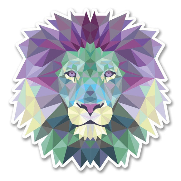 2 x Abstract Lion Vinyl Sticker #6223