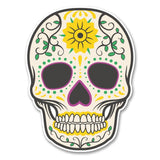 2 x Sugar Skull Vinyl Sticker #6227