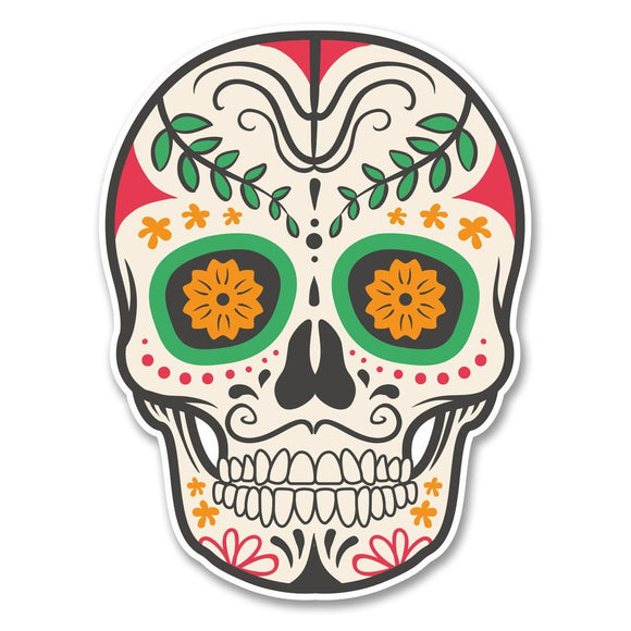 2 x Sugar Skull Vinyl Sticker #6230