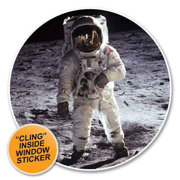 2 x Astronaut WINDOW CLING STICKER Car Van Campervan Glass #6234