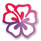 2 x Hibiscus Flower Vinyl Sticker #6260