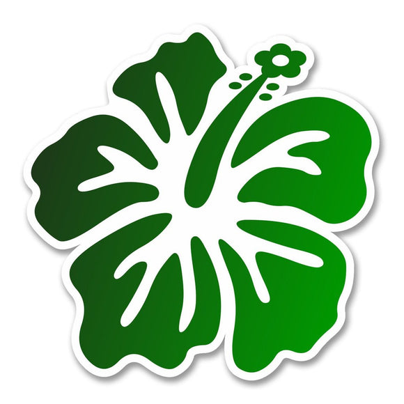 2 x Hibiscus Flower Vinyl Sticker #6261