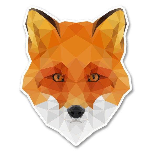2 x Abstract Fox Vinyl Sticker #6280