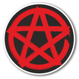 2 x Pentagram Symbol Vinyl Sticker #6281